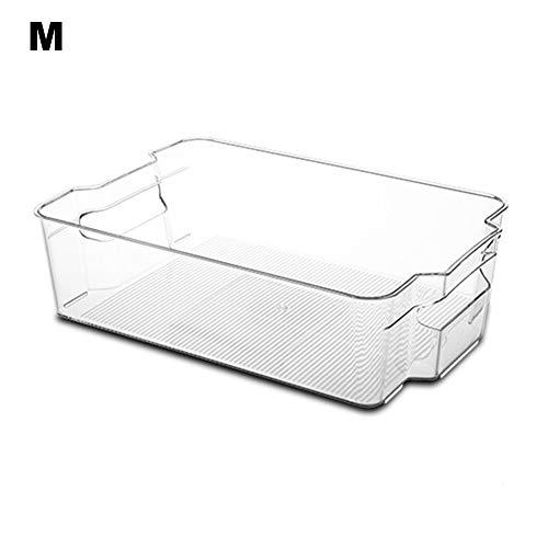 KLOP256 Caja de almacenamiento para frigorífico, congelador, cajones organizadores transparentes con asas...