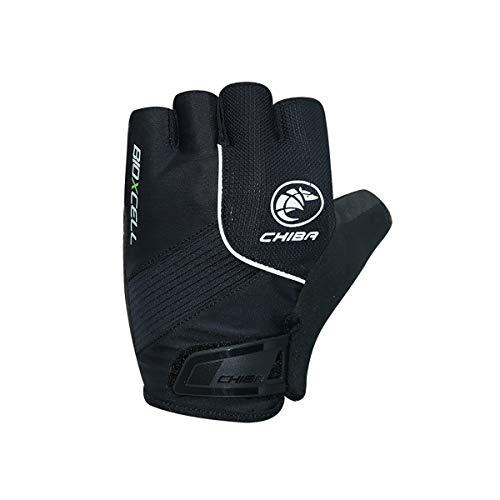 Chiba BioXCell Fahrrad Handschuhe kurz schwarz 2020: Größe: M (8)