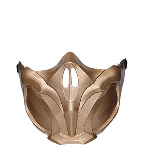 Evere Scorpion Maske Spiel MK 11 Cosplay Kostüm Harz halbes Gesicht Helm für Erwachsene Herren Kleidung Zubehör