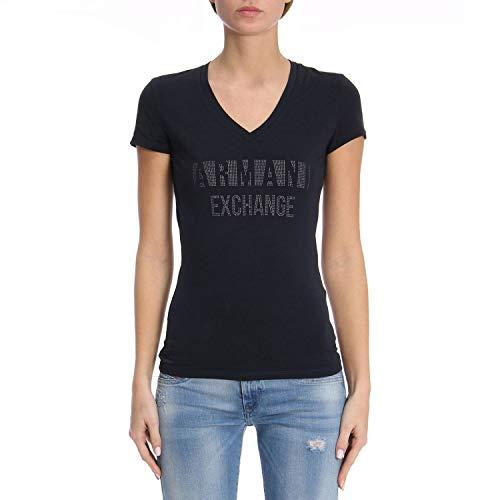 Armani Exchange 8nyt90 Camiseta, Azul (Navy 1510), X-Small para Mujer