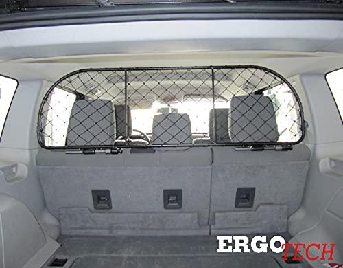 ERGOTECH Divisorio Griglia Rete Divisoria Compatibile con Jeep Cherokee (2008-2013) RDA65-XL, per Trasporto Cani e Bagagli.