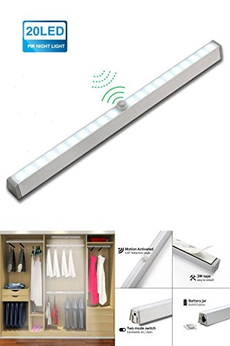 Portable 20 LED Night Light Automatische Sensor Light Bar Lamp for Home Kitchen Cabinet Closet