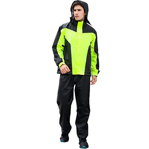 Soul Case Combinaison de pluie haute visibilité pour adultes, imperméable, respirante et réfléchissante, protection contre la pluie Vert fluo, XXL