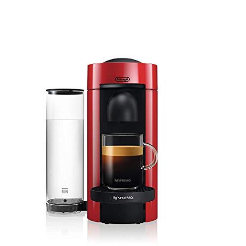 De\'Longhi Nespresso Vertuo | ENV 150.R Kaffeekapselmaschine | Perfekte Crema dank Centrifusion Technologie |Eine Kaffeemaschine, 3 Tassengrößen | 1,1 L | rot