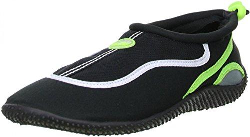 ConWay Damen Herren Wassersport Schwimm Badeschuhe schwarz/grün, Größe:36, Farbe:Grün
