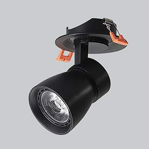 Hines Spotlight LED Interior Industrial Downlight COB Ultra-Delgado Decoración Empotrada Decoración Techo Luces de Techo Home Business Panel Lámpara Escritorio Frontal Luz Spot Light