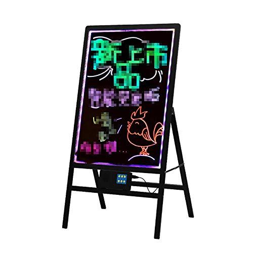 HO-TBO Bacheche messaggi e insegne Consiglio Neon LED, Segno Lampeggiante Illuminato cancellabile Messaggio di Scrittura con marcatori Fluorescenti a Distanza e 8 Banco di Mostra attività
