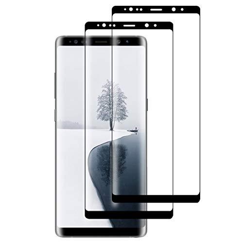 XSWO [2 Pezzi Vetro Temperato Galaxy Note 8, Protezione Schermo Samsung Galaxy Note 8 [3D Copertura Completa] [Anti-Graffi] [Senza Bolle] [Facile Installazione] Pellicola Protettiva Vetro Note 8