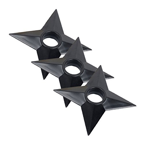 Zaroter Set of 3 Pcs Ninja Weapons Naruto Shuriken Throwing Plastic Toy