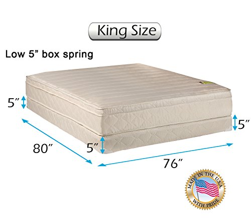 Best Review Of Comfort Pedic PillowTop (Eurotop) Firm Mattress & Low 5 Height Box Spring with Mattr...