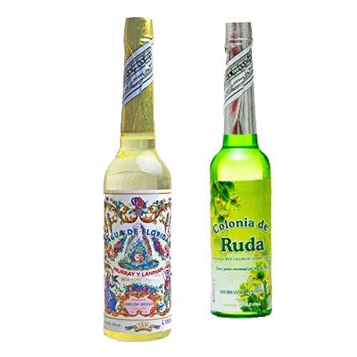 PACK DE DOS (2) BOTELLAS DE Agua de Florida 1 La Original Peru Amarilla 270 ml y otra de Ruda de 221 ml.