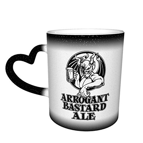 Arrogant Bastard Unite Taza que cambia de color Gran diseño de taza de café Taza de cerámica sensible al calor, 11 oz