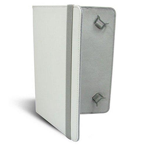Funda De Tablet Leotec 9' Tipo Libro Adaptable A Todas Las Tablets De 9' Color Blanco Left09W