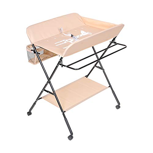 41d58OX5+iL - FORSTART Baby Changing Table with Wheels