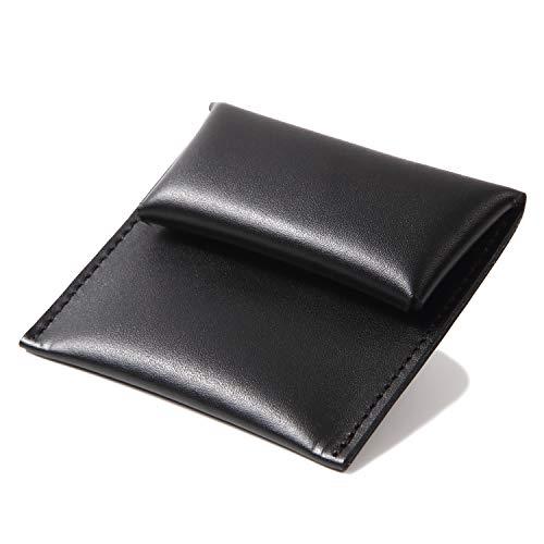 [東京下町工房] 使いやすさ抜群 小銭入れ 本革コインケース ビジネスマンのコインケース メンズ (ブラック)