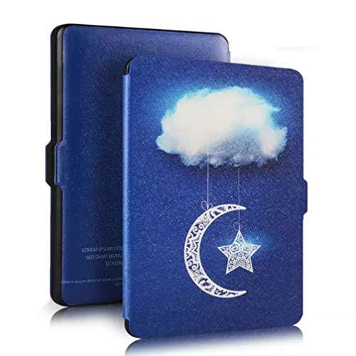 OSALADI Kindle Capa De Couro Característica Mais Leve Mais Fino Genuíno PU Cubra Com Wake Auto Sono para Amazon Kindle Paperwhite (Céu Nuvens)