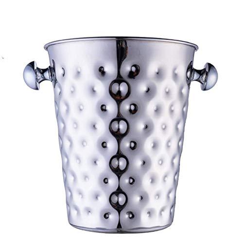 YWSZJ Cubo de champán Dorado Cepillado con, Cubo de Hielo de Acero Inoxidable Grabado con Carr