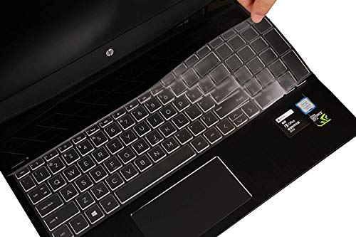 """Keyboard Cover for 2019 2020 HP Envy x360 15.6' /Pavilion 15.6 Series/2020 2019 HP 17 17.3""""Series/HP Envy 17 Seriers 17.3"""",15-CB 15-CC 15-CD 15-CH 15-BW 15-BS 17M 17-BS 17-BW Laptop - TPU"""