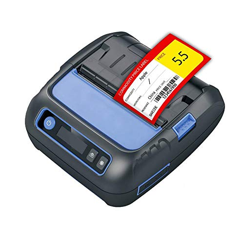 Portable Imprimante Thermique De Billets Fabrication D'étiquettes 2 En 1 Bluetooth Sans Fil Imprimante Code À Barres Compatible Avec Android IOS Et Windows Convient Aux Petites Entreprises ESC / POS