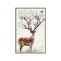 綺麗な 装飾的な絵画現代のミニマリストのソファ絵画温かい雰囲気エルクの壁画 パーフェクト (Color : C, Size : 50*70cm)