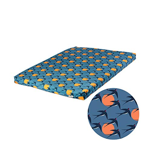 Celina Digby Designer Zabuton Floor Mat Grade A Velvet Cover with High Density Foam Filling Perfect for use with Zafu Meditation Cushion 80x65x6cm (Swallows)