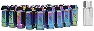Mishimoto MMLG-125-LOCKNC Aluminum Locking Lug Nuts, M12 x 1.25, Neo Chrome