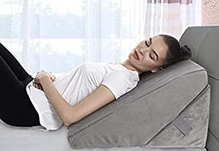 Bed Wedge Pillow - Adjustable 9&12 Inch Folding Memory Foam Incline Cushion System for Legs and Back Support Pillow - Acid Reflux, Anti Snoring, Heartburn, Reading – Machine Washable