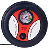 WowObjects 1Pc Portable Electric Mini 12V Air Compressor Pump Car Tyre Tire Inflator