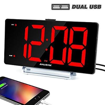 "K-star Large Alarm Clock 9"" LED Digital Display Dual Alarm"