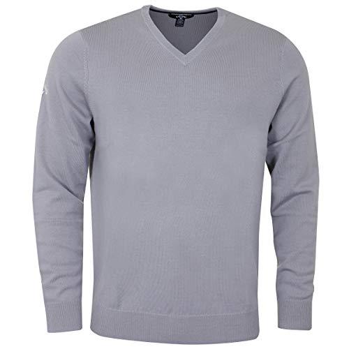 Callaway Herren V-Neck Merino Sweater mädchen Pullover, Grau (Gris 040), Large