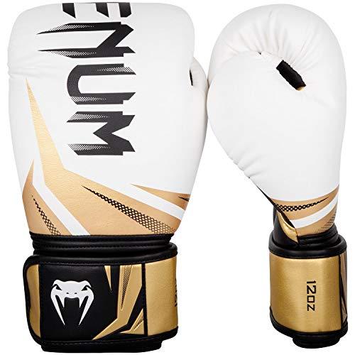 Venum Luvas de boxe Challenger 3.0 - Branco/Preto-Dourado - 473 ml, Branco/Preto/Ouro, 473 g