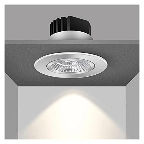 ZJF Ángulo ajustable LED LED Down Downlights 6W 9W 12W 18W Lámpara de techo empotrada AC110V 220V Luz redonda de la luz del hogar ZJF (Emitting Color : Cold White)