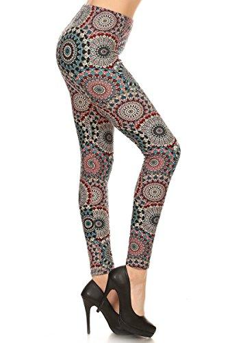 R683-PLUS Calm Mandala Print Leggings
