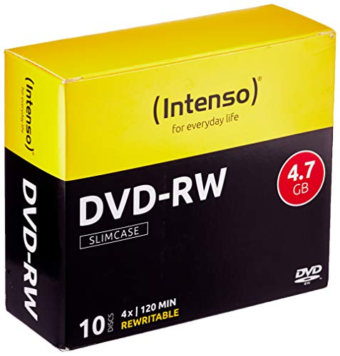Intenso DVD-RW 4,7GB Rewritable 4x Speed 10er Pack Slimcase