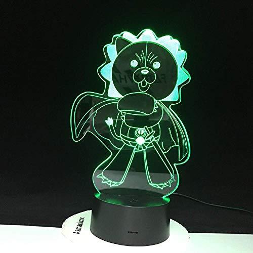 3d lampe illusion veilleuse adulte Ours en colère Winnie l'Ourson Cadeaux appropriés pour les adolescents et les adolescentes-Interrupteur tactile