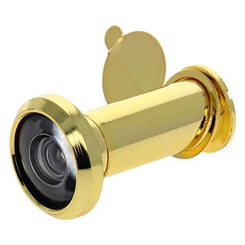 YPASDJH 1~3pcs 200 Grados Visor de Seguridad de la Puerta de privacidad Cubierta for Ministerio Servicios Adecuado for 35-55m m Gruesos Puertas para Oficina en casa (Color : Gold x1pcs)