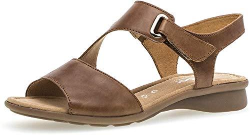 Gabor Mujer Sandalias de Vestir, señora Sandalia con Tiras, Sandalias con Correa,Zapatos de Verano,cómodo,Confort,Plana,Peanut,38 EU / 5 UK