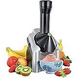 TUIHJA Máquina Helado para Hacer Deliciosos Sorbetes Helado y Máquina de Yogurt Congelado Portátil Hogar, Original, Saludable, para Postre, Fruta, para Servir Helado Suave, para Niños