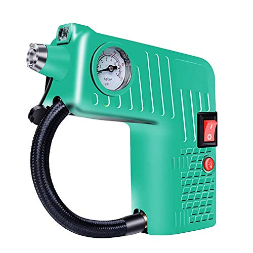 Inflador Ruedas Coche Compresor De Aire Portatil Herramienta de aire Inflador de neumáticos Compresor Digital Inflador de neumáticos Green,One Size