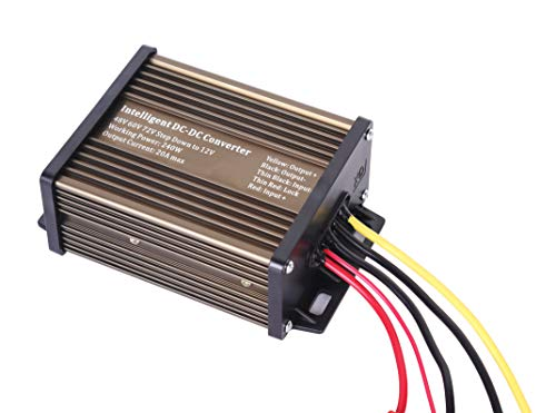 Pro Chaser DC-DC 120V 108V 96V 84V 72V 60V 48V Volt Voltage to 12V Step Down Voltage Reducer Regulator 180W 15A for Scooters & Bicycles Golf cart (20A 240W)