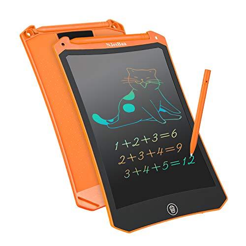 LCD Schreibtafel 8,5 Zoll, Bunte Elektronische Grafik Schreibtablet Iöschbare Tragbare schreibtafel Grafiktablett Tablette für Kinder Adult Klasse Zuhause Schule(Orange)