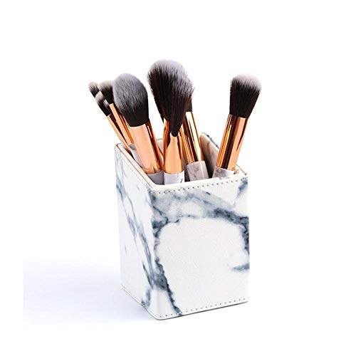Set cosmétiques Brosses outil Pinceaux De Maquillage En Marbre, Ensemble De 11 Pinceaux De Maquillage Eco Eco - Poudre De Fard À Paupières Mélange De L'outil De Maquillage De Brosse De Cils De Fard À