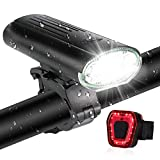 Bike lights 3000mAh Super Bright USB Rechargeable Bike Front and Back Light IPX5