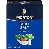 Morton Table Salt, Non-Iodized, 4 Pound Box (Pack of 9)