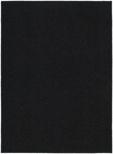Garland Rug Town Square Area Rug, 9-Feet by 12-Feet, Black