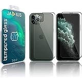 JADIUS 3 Pezzi Protezione 360 ° in Vetro Temperato IPhone 11 Pro Max compatibile [schermo, vetro posteriore, fotocamera posteriore] 3 in 1 Pellicole protettive Ultra resistente HD trasparente