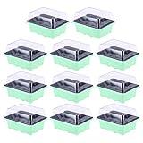 OUNONA 10 Pezzi Vassoi per la germinazione Kit per la germinazione 12 Celle per Il Giardin...