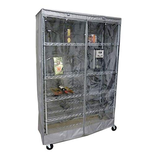 Storage Shelving Unit Cover, fits Racks 48' Wx18 Dx72 H one Side See Through Panel (Cover only)