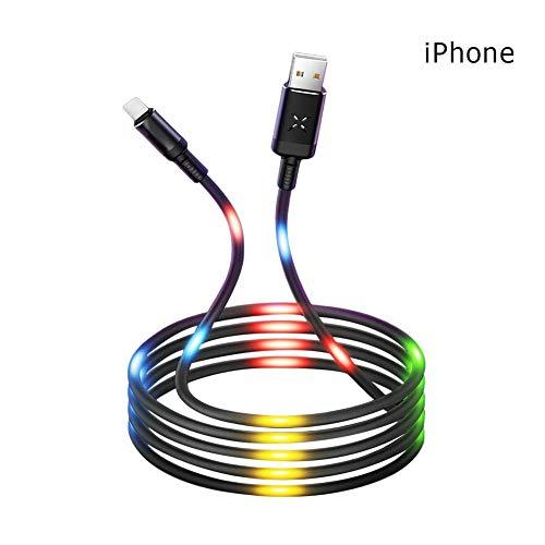 asterisknewly Datenleitung Telefon Datenleitung Streamer Datenleitung Tonsteuerung Atemlampe Datenleitung Tremble Ladeleitung für iPhone Android und Typ C