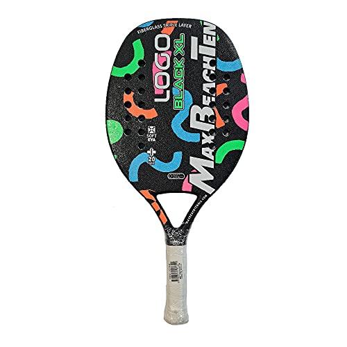 MBT Max Beach Tennis Racchetta Beach Tennis Racket Logo Black XL 2021